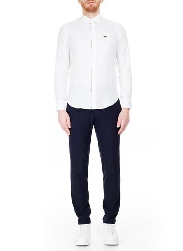 Emporio Armani 51P35S Normal Bel Slim Fit Kumaş Erkek Pantolon Lacivert